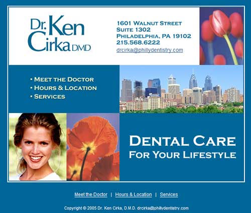 phillydentistry.com home page june 2004