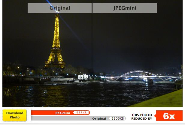 jpegmini optimizing paris night photo