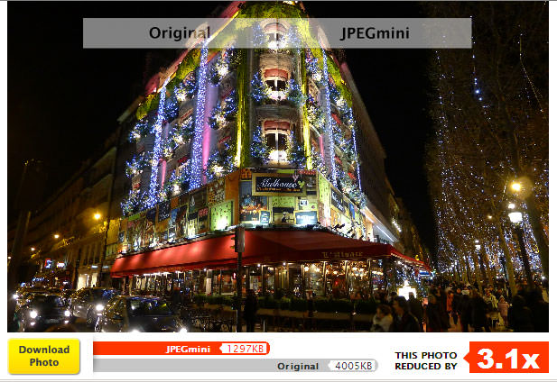 jpegmini optimizing paris holiday lights photo