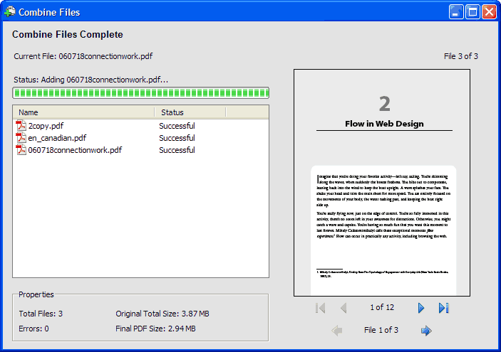 combined files into a package in acrobat 8 pro